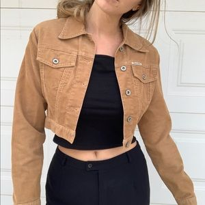 Vintage Guess Corduroy Jean Cropped Jacket